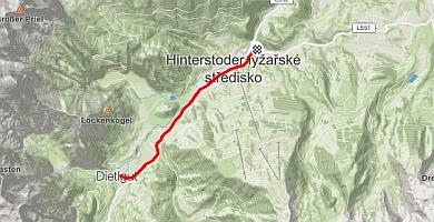 Bike Route Hinterstoder - Dietelgut 13km