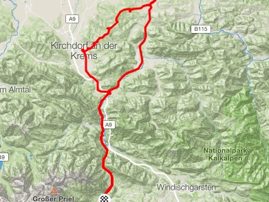 Bike Route Hinterstoder - The Fat Lady 85km
