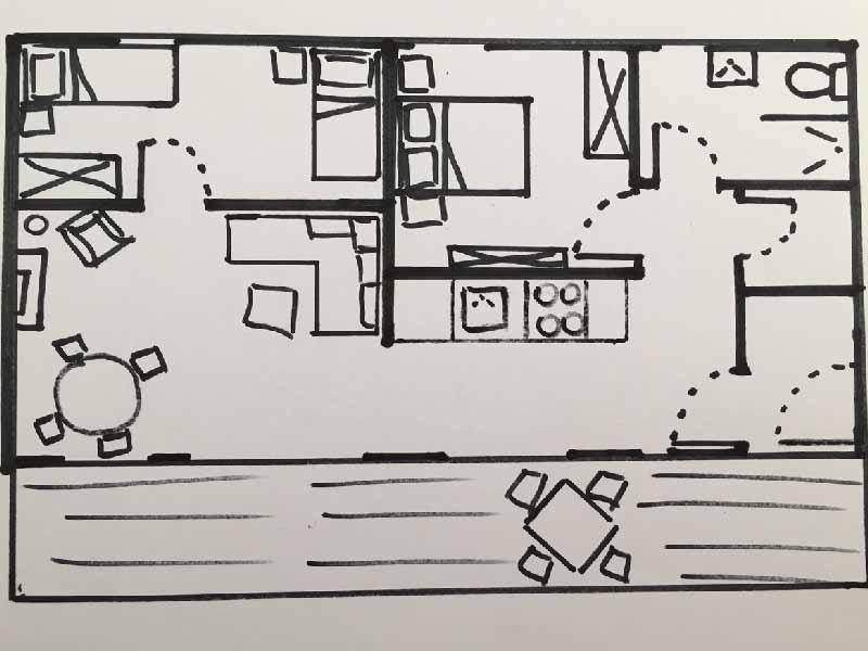 layout apartment 6 Fleischerei Hinterstoder