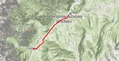 Bike Route Hinterstoder - Dietelgut 13km